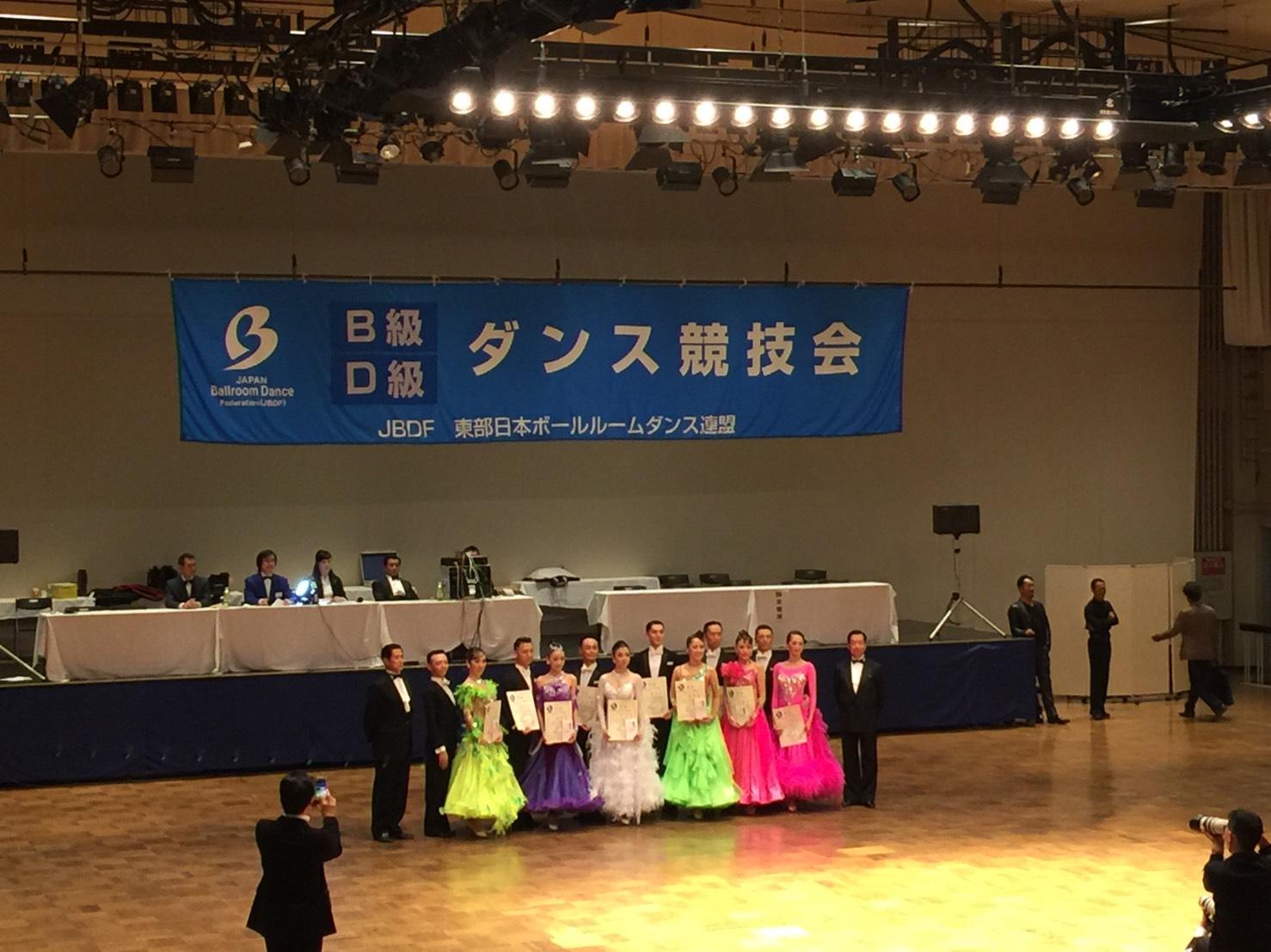 ダンス|後楽園ホール|速報|結果|10月16日|B級プロスタンダード