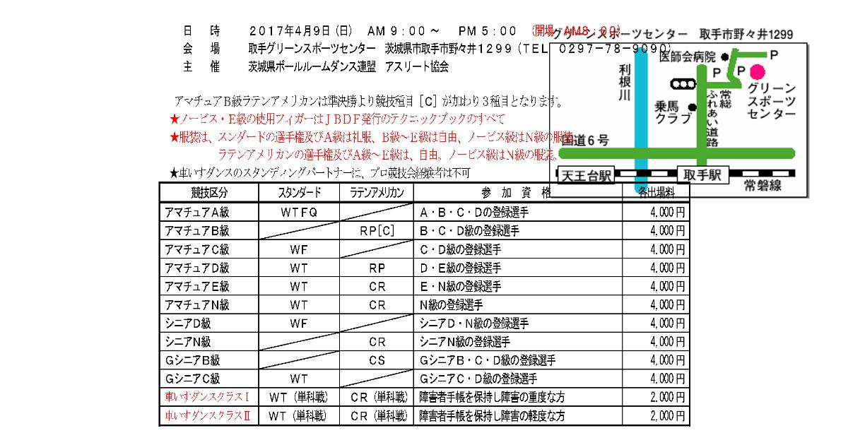 ダンス競技会|JBDF|関東甲信越|茨城県|埼玉県ボールルームダンス連盟|2017