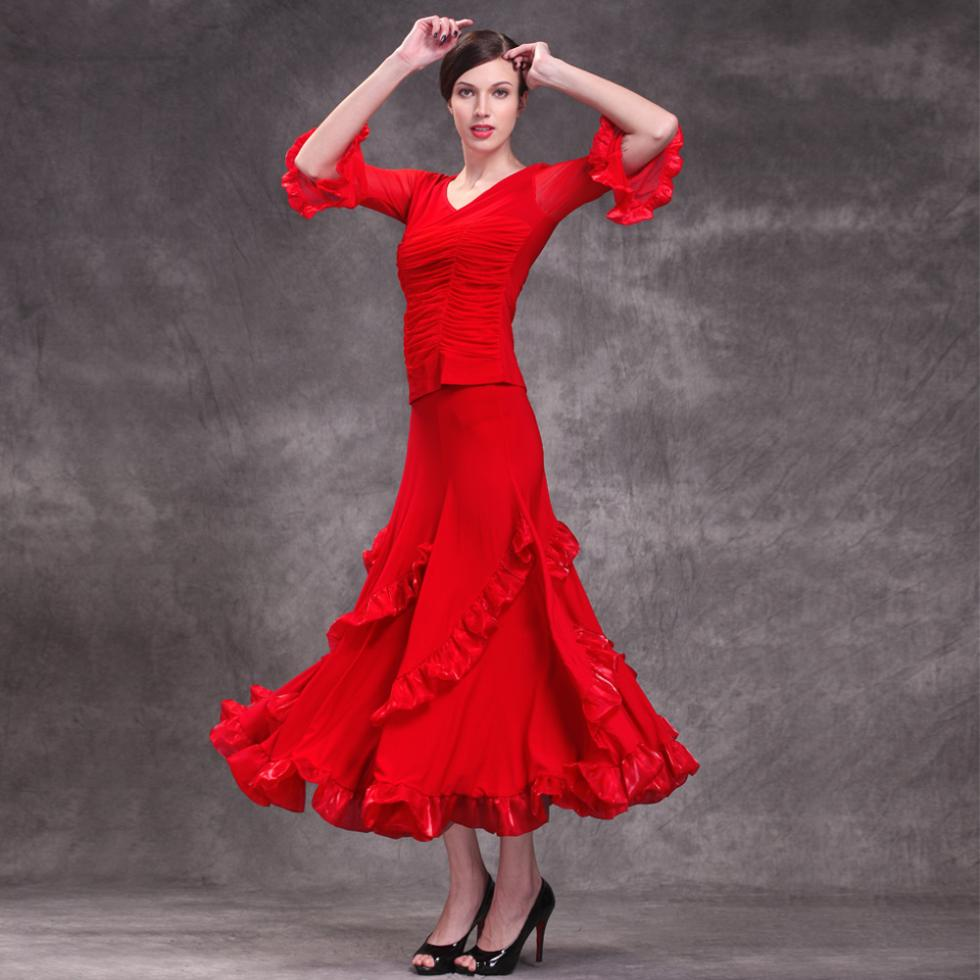 New-modern-dance-practice-wear-performance-wear-dance-clothes-red-Ballroom-dress-ballroom-dance-costume-outfit