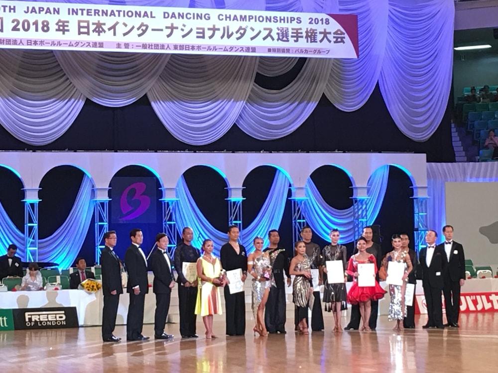 2018|日本インター|武道館|シニアラテン|大矢部