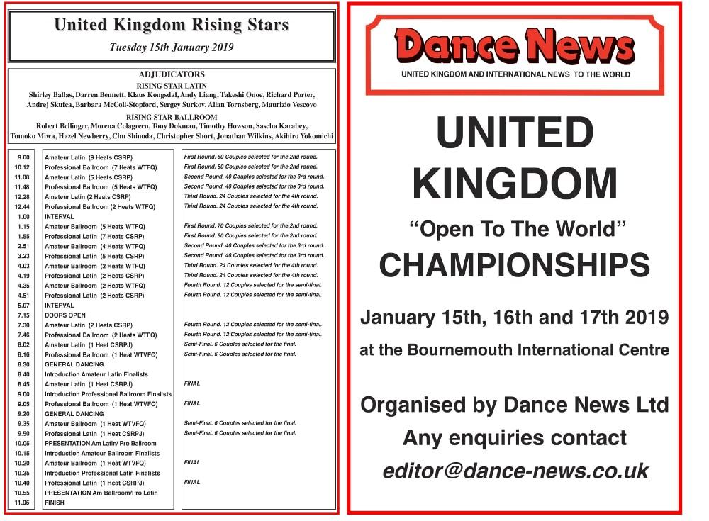 社交ダンス|2019|UK選手権|ボーンマス|結果