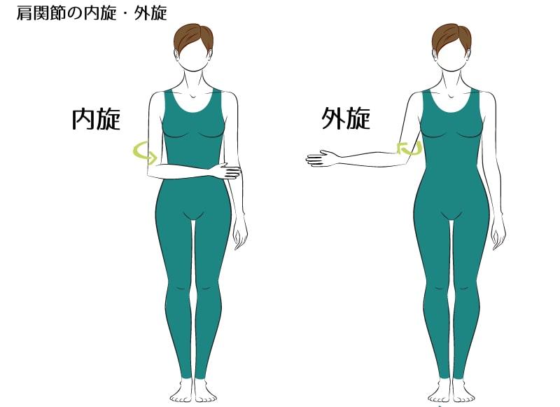 肩関節の内旋・外旋